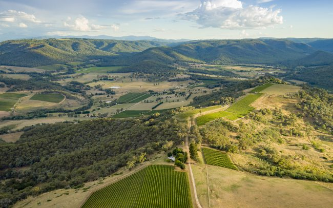 mt bellevue lodge king valley aerial image